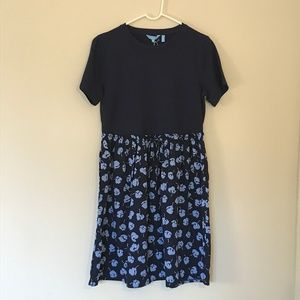NWT Short Sleeves Knit to Woven Floral Dress